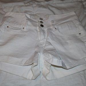 YMI White Jean Shorts
